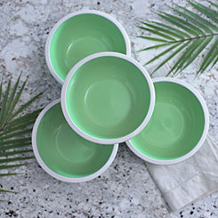 Pastel Green Bowls, Set of 4