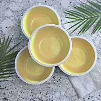 Pastel Yellow Bowls, Set of 4