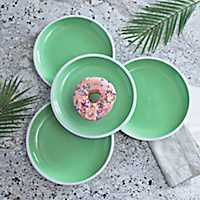 Pastel Green Dinner Plates, Set of 4