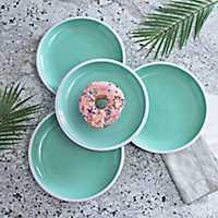 Pastel Blue Dinner Plates, Set of 4