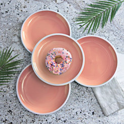 Pastel Orange Dinner Plates, Set of 4