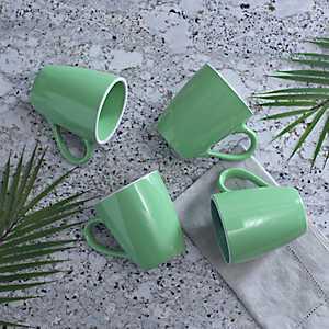 Pastel Green Mugs, Set of 4