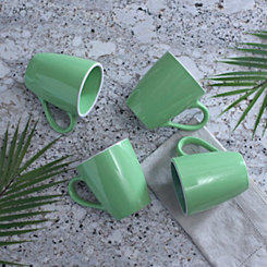 Pastel Green Mugs, Set of 4