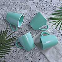 Pastel Blue Mugs, Set of 4