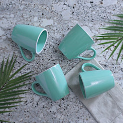 Pastel Blue Mugs, Set of 4