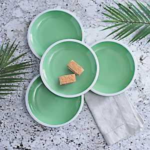 Pastel Green Salad Plates, Set of 4