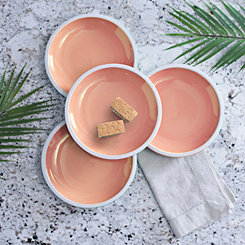 Pastel Orange Salad Plates, Set of 4