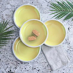 Pastel Yellow Salad Plates, Set of 4