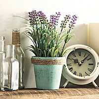 Lavender Arrangement in Green Pot Planter