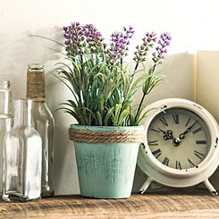 Lavender Arrangement in Green Pot Planter