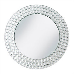Beaded Silver Mirror Charger