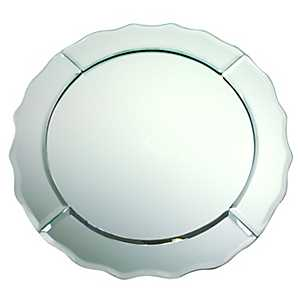 Scalloped Silver Mirror Charger