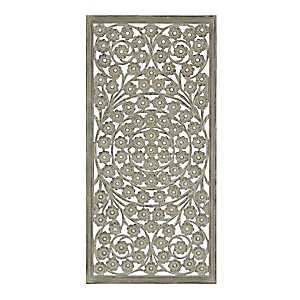 Jasmine Carved Wood Wall Panel
