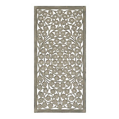 Jasmine Carved Wood Wall Panel