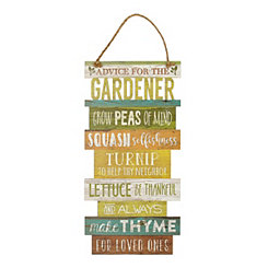 Advice for the Gardener Wall Plaque