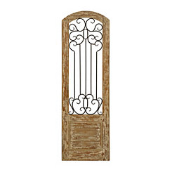 Rustic Courtyard Gate Plaque