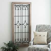 Ornate Faux Windowpane Plaque