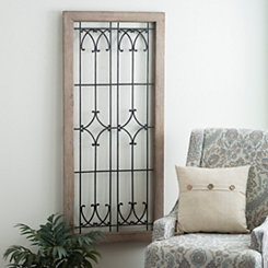 Ornate Faux Windowpane Plaque