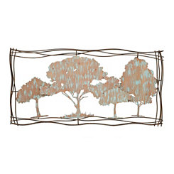 Tree Landscape Metal Wall Plaque
