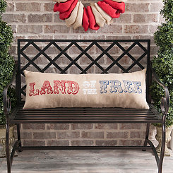 Land Of The Free Bench Pillow