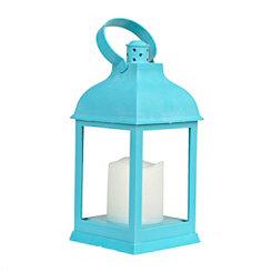 Pre-Lit Blue Lantern