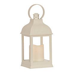 Pre-Lit White Lantern