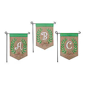 Laurel Leaf Monogram Flag Sets
