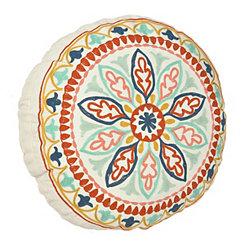 Multicolor Medallion Pillow
