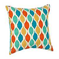 Multicolor Morocco Ogee Pillow
