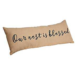 Our Nest is Blessed Bench Pillow