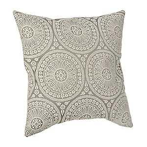 Gray Medallion Pillow