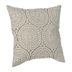 Gray Medallion Pillow