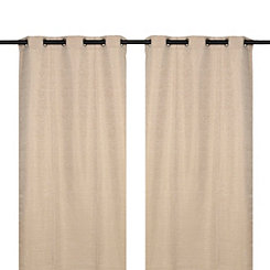 Tan Sequin Curtain Panel Set, 84 in.