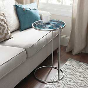 Round Silver Geode C-Table