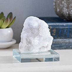 White Stone and Glass Figurine