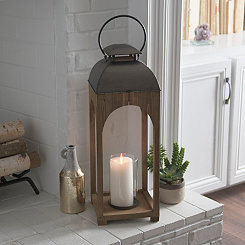 Emma Natural Wood Arch Lantern