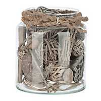 Gray Natural Mix Filler in Glass Jar