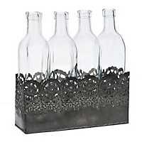 Scroll Cutout Bottles Vase Runner Set