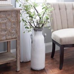 Distressed Whitewashed Vase