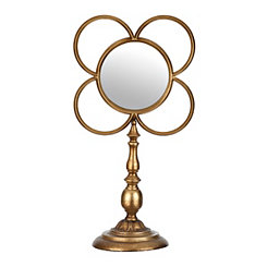 Gold Loop Cutout Mirror Finial