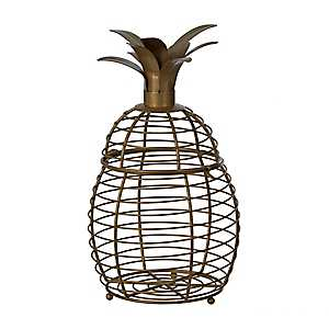 Gold Cutout Pineapple Decorative Jar