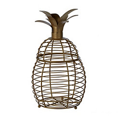 Gold Cutout Pineapple Decorative Jar