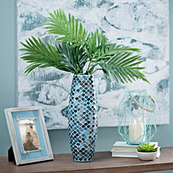 Blue Scale Mosaic Vase