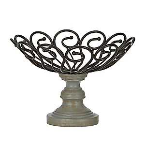 Black Scroll Finial Decorative Bowl