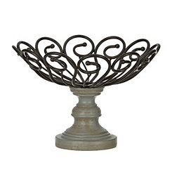 Black Scroll Finial Decorative Bowl