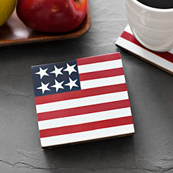 American Flag Coasters, Set of 4