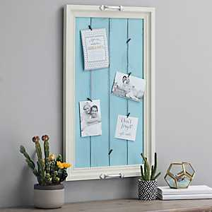 Turquoise Shiplap Tray Clip Collage Frame
