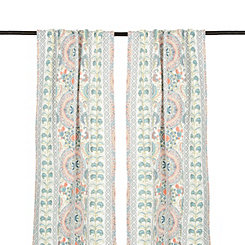 Lola Multicolor Paisley Curtain Panel Set, 84 in.