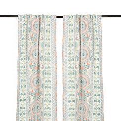 Lola Multicolor Paisley Curtain Panel Set, 84 in.