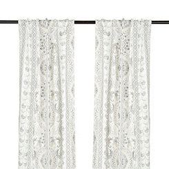 Lola Gray Paisley Curtain Panel Set, 84 in.